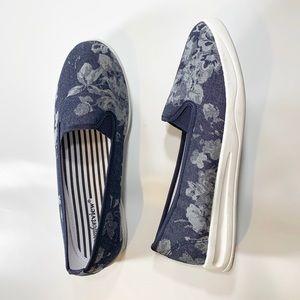 comfortview | Denim Floral Blue & White Sneaker